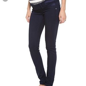DL1961 Maternity Jeans Amanda Skinny Side Dark